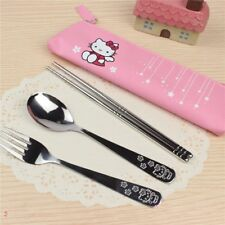 3pcs Hello Kitty Spoon / Fork / Chopsticks 304 Stainless Steel Travel Tableware