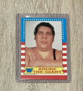 WWF 1987 Topps Andre The Giant Card Vintage WWE