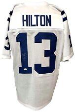 TY Hilton Autographed Pro Style White Jersey JSA Authenticated