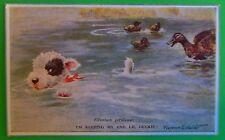 Terrier Ducks-Artist Florence E. Valter-Vintage Named Valentine's Co Postcard