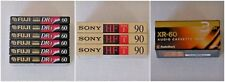 12 Blank Audio Cassette Tapes Sony HF-90 Fuji DR-I 60 Radio Shack XR-60
