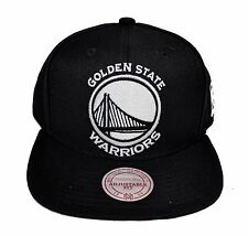Golden State Warriors Mitchell & Ness XL Black on White Snapback Hat Cap NBA