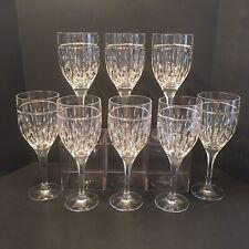 """Stunning Set Of 8 Lauren Ralph Lauren """"Aston' Crystal Water Goblets"""