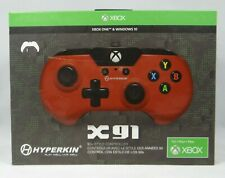 Hyperkin Xbox One X91 Wired Game Controller Red for Xbox One System and PC