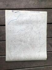 Vtg Topo Topographic Map 1925 Colorful Archived Scottsboro, AL, Jackson Marshall