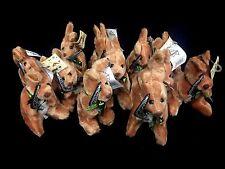 6 x  Australian Souvenir Soft  Kangaroo  With Boomerang Kangaroos 15cm New bulk