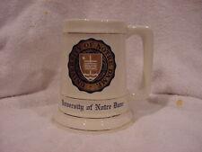 Gorgeous 1950's University of Notre Dame Ceramic Stein, Rare&Mint!