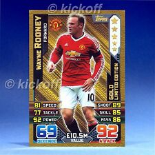 Match Attax 2015-2016: ROONEY - GOLD Limited Edition. Man United. 15-16 NEW. LE2
