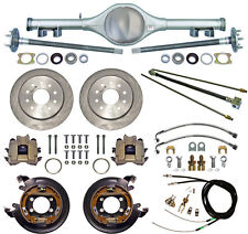 CURRIE 68-74 X-BODY MULTI-LEAF REAR END & DISC BRAKES,LINES,PARKING CABLES,AXLES