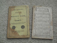 Vintage 1867 and 1870 Mrs Winslow Domestic Receipt Books