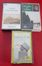 Lot of 3 Audio Cassettes - The Best of Chopin - Chopin Famous Piano Music -