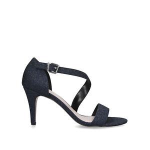 Kurt Geiger Carvela Kind Navy Glitter High Heel Shoes Size UK 6 EU 39 RRP £99