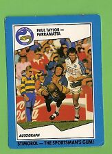1989  PARRAMATTA EELS  STIMOROL RUGBY LEAGUE CARD  #105  PAUL TAYLOR