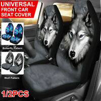 Wolf & Butterfly Universal Car Seat Covers Front Seat Protector Animal Pattern