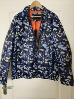 NORTH QUARTER BY CHRISTOPHER SHANNON BLUE LAYER CAMO JACKET SIZE XL BNWT RP £180