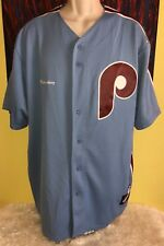 Men's Majestic MLB Cooperstown Collection Philadelphia Phillies Budweiser Jersey