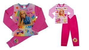 Girls Barbie Pyjamas Kids Nightwear 3 to 8 Years Long Sleeve PJs Pink Doll