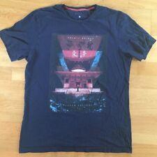 """F&f bleu """"Cosmic... Japon culture"""" T Shirt. Taille M"""
