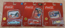 Johnny Lightning Coca Cola Diecast Car & Collector Tray Lot Of 3 NEW