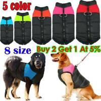 8Size Pet Cat Dog Clothes Autumn Winter Warm Padded Coat Vest Jacket Waterproof