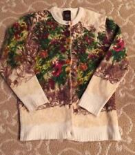 Vintage Jean Paul Gaultier Floral Wool Sweater Size Small