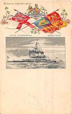 CARTOLINA NAVI HMS DEVASTAZIONE TUCK