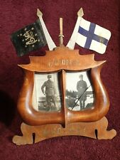 dated 1930-1931 WELL MADE PICTURE FRAME FINLAND FINNISH ARMY MILITARY pre WWII