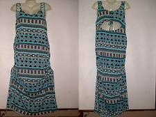 EXTRA TOUCH Runched side Slit side keyhole back  Body Con Maxi Dress PlusSize 2X