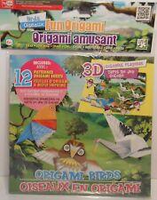Origami BIRDS Swan Love Bird Crane Owl 3D Playmat Paper Instructions Arts Crafts