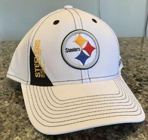 Pittsburgh Steelers Hat Cap Stretch Fit L/XL Reebok OnField New