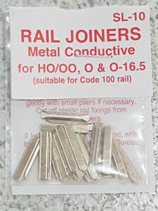 Peco SL-10 HO/OO Metal Rail Joiners 24 per pack