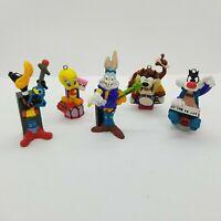 Vtg 1995 Looney Tunes Bugs Daffy Taz Tweety Sylvester Pen Topper Ornaments Lot