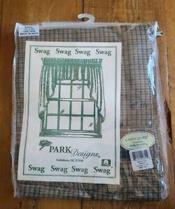 "(1 Pair) Park Designs Cabin Quilt Swag 72"" x 36"" Valances"