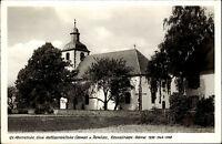 Neunkirchen Odenwald Ansichtskarte 1970 Partie an der evangelischen Pfarrkirche