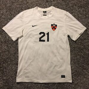 Authentic Game Worn Princeton Tigers Soccer Jersey Men's Size L NIKE #21