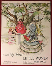 """Vintage and uncut Louisa May Alcott's """"Little Women"""" Paper Dolls By Janet Nason"""