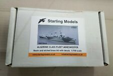 STARLING MODEL STK01 HMS BRAVE RESIN/ETCHED BRASS KIT 1:700 ALGERINE MINESWEEPER