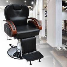 Heavy Barber Chair Salon Hydraulic Reclining Hairdressing Threading Shaving UK
