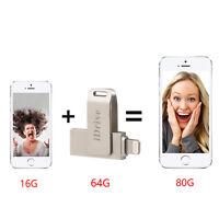 16/32/64/128G iDrive Apple flash memoria USB Drive para iPhone/iPad/iPod/PC HOT