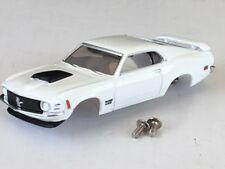 New AW 70 White Boss 429 Mustang HO Slot Car Body Fit Aurora & Dash Tjet Chassis