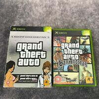 Grand Theft Auto Double Pack + San Andreas Original Xbox Game Bundle Rockstar