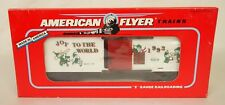 "AMERICAN FLYER #6-48319 ""JOY TO THE WORLD"" 1993 CHRISTMAS BOX CAR-NIB!"