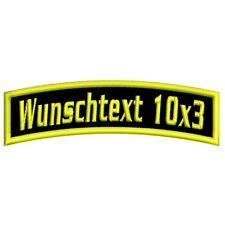 Aufnäher Patch Wunschtext oberer Bogen 10cm x 3cm Biker MC Verein Firma Bog01