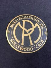 Mole Richardson Hollywood Decal Steampunk ARRI Bardwell Mcalister Studio Gold
