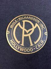 Mole Richardson Hollywood Decal Steampunk ARRI Bardwell Mcalister Studio Gold