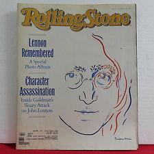 John Lennon Remembered ROLLING STONE Magazine Issue 537 Pictures October 20 1988