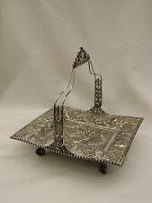 Antique TUFTS Silverplate Elaborate Repoussé Mermaid Victorian Brides Basket