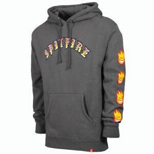 Spitfire Olde Bighead Fill Sleeve Charcoal Mens Sweatshirt Hoodie