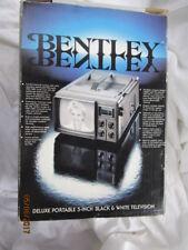 "NIB Vintage 1983 BENTLEY 5"" Black & White Portable Battery Run TV Television NOS"