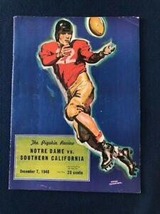 Notre Dame Southern California December 7 1940 Football Souvenir Program